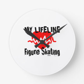 My Life Line Figure Skating Sports Designs Round Clock