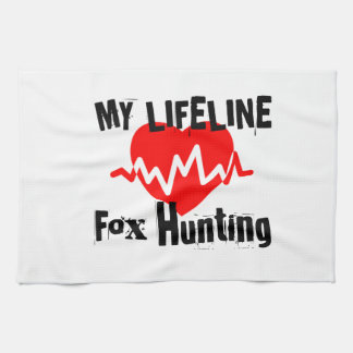 My Life Line Fox Hunting Sports Designs Kitchen Towel