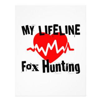 My Life Line Fox Hunting Sports Designs Letterhead