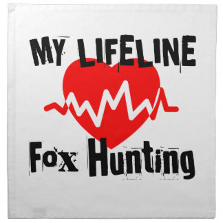 My Life Line Fox Hunting Sports Designs Napkin