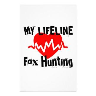 My Life Line Fox Hunting Sports Designs Stationery