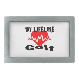My Life Line Golf Sports Designs Belt Buckle