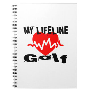 My Life Line Golf Sports Designs Notebooks
