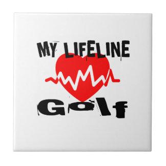 My Life Line Golf Sports Designs Tile