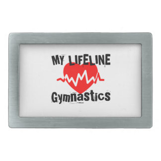 My Life Line Gymnastics Sports Designs Belt Buckles