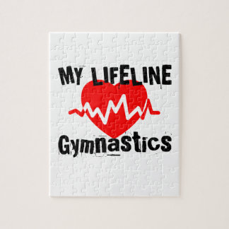 My Life Line Gymnastics Sports Designs Jigsaw Puzzle