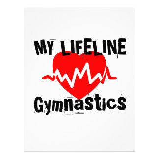 My Life Line Gymnastics Sports Designs Letterhead