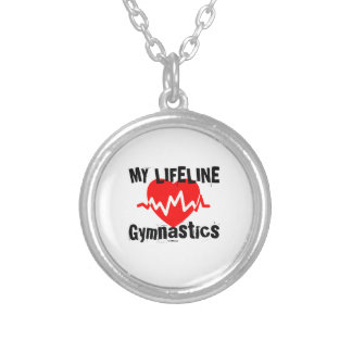My Life Line Gymnastics Sports Designs Silver Plated Necklace