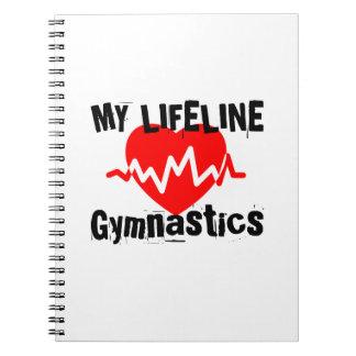My Life Line Gymnastics Sports Designs Spiral Notebook