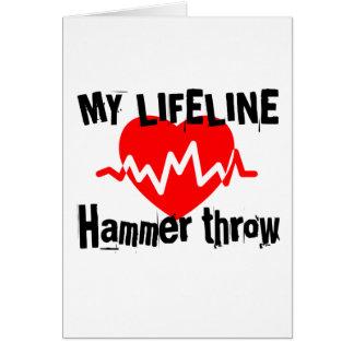 My Life Line Hammer throw Sports Designs Card