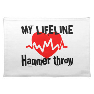 My Life Line Hammer throw Sports Designs Placemat
