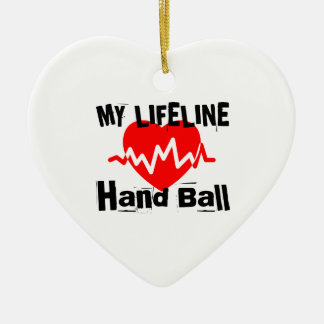 My Life Line Hand Ball Sports Designs Ceramic Ornament