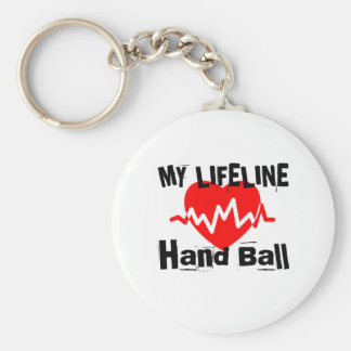 My Life Line Hand Ball Sports Designs Keychain