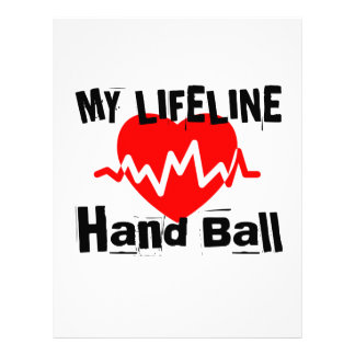My Life Line Hand Ball Sports Designs Letterhead