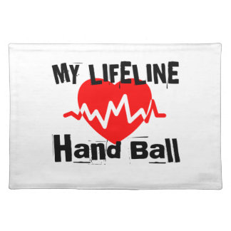 My Life Line Hand Ball Sports Designs Placemat