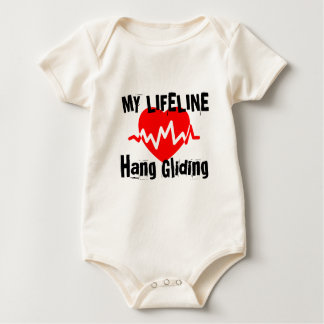 My Life Line Hang Gliding Sports Designs Baby Bodysuit