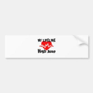 My Life Line High Jump Sports Designs Bumper Sticker