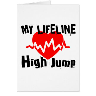 My Life Line High Jump Sports Designs Card