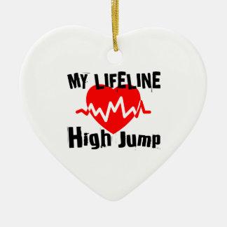 My Life Line High Jump Sports Designs Ceramic Ornament
