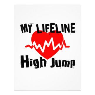 My Life Line High Jump Sports Designs Letterhead
