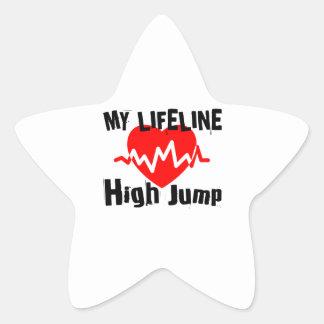 My Life Line High Jump Sports Designs Star Sticker