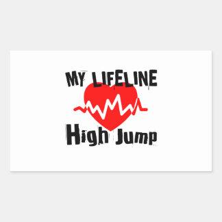 My Life Line High Jump Sports Designs Sticker