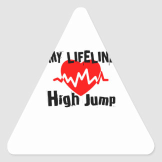 My Life Line High Jump Sports Designs Triangle Sticker