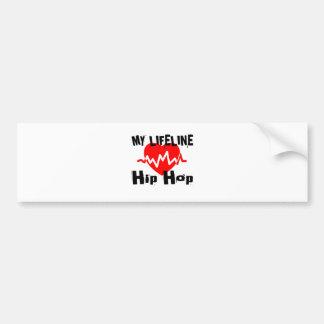 My Life Line Hip Hop Sports Designs Bumper Sticker
