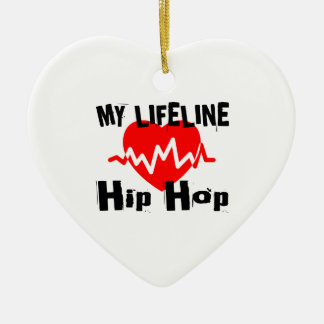 My Life Line Hip Hop Sports Designs Ceramic Ornament