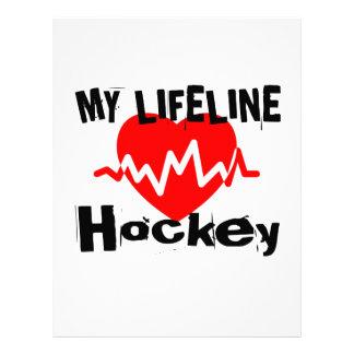 My Life Line Hockey Sports Designs Letterhead