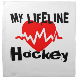 My Life Line Hockey Sports Designs Napkin
