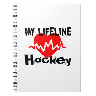 My Life Line Hockey Sports Designs Notebook
