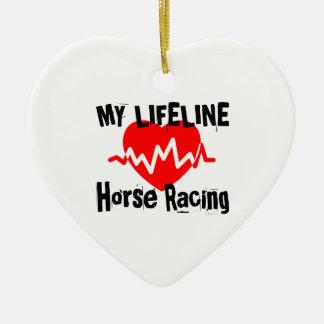 My Life Line Horse Racing Sports Designs Ceramic Ornament