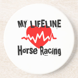 My Life Line Horse Racing Sports Designs Coaster