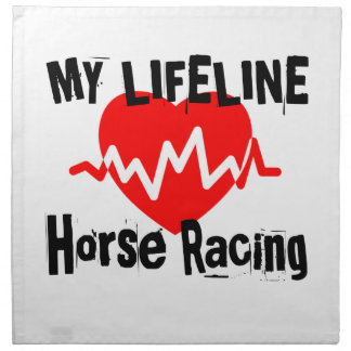 My Life Line Horse Racing Sports Designs Napkin