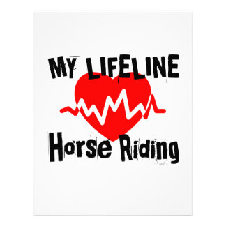 My Life Line Horse Riding Sports Designs Letterhead