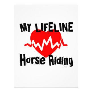 My Life Line Horse Riding Sports Designs Letterhead
