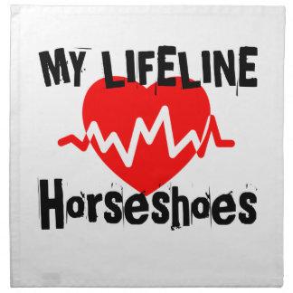 My Life Line Horseshoes Sports Designs Napkin