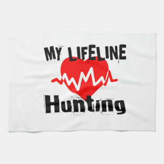 My Life Line Hunting Sports Designs Kitchen Towel
