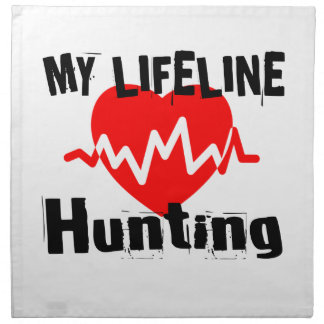 My Life Line Hunting Sports Designs Napkin