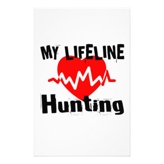 My Life Line Hunting Sports Designs Stationery