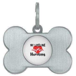My Life Line Hurdling Sports Designs Pet Name Tag