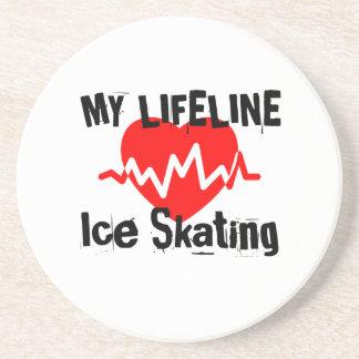 My Life Line Ice Skating Sports Designs Coaster