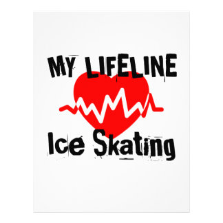 My Life Line Ice Skating Sports Designs Letterhead