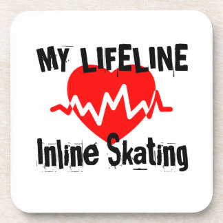 My Life Line Inline Skating Sports Designs Coaster