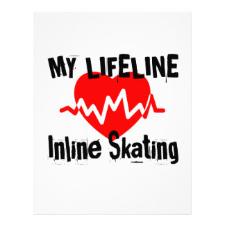 My Life Line Inline Skating Sports Designs Letterhead