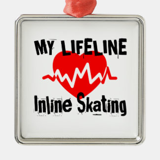 My Life Line Inline Skating Sports Designs Metal Ornament