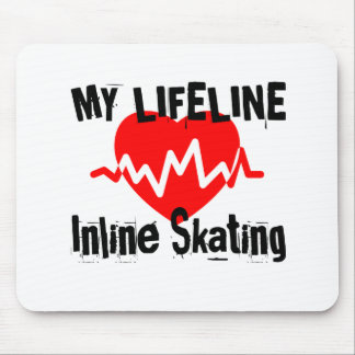 My Life Line Inline Skating Sports Designs Mouse Pad