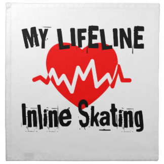 My Life Line Inline Skating Sports Designs Napkin