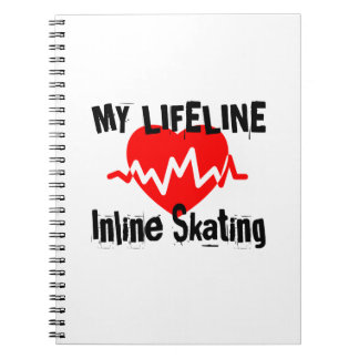 My Life Line Inline Skating Sports Designs Notebook